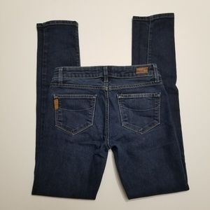 Paige 25 Skyline Skinny Dark Denim Jeans
